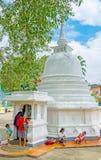 Lo stupa del tempio di Peradeniya Fotografie Stock