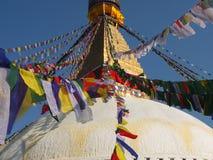 Lo Stupa di Bodnath, Nepal immagini stock