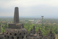 Lo Stupa di Borobudur Fotografie Stock