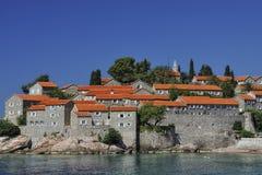Lo SV. Isola di Stefan, Montenegro Immagine Stock