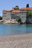 Lo SV. Isola di Stefan, Montenegro immagini stock