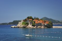 Lo SV. Isola di Stefan, Montenegro fotografia stock