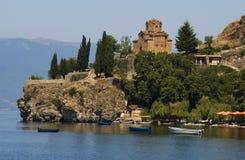 Lo SV. Jovan, chiesa Ohrid di Kaneo Fotografia Stock Libera da Diritti