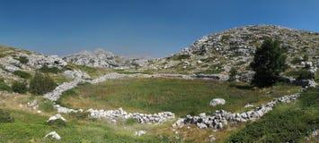 Lo SV. Jure - il più alta montagna nella catena montuosa Biokovo Immagini Stock Libere da Diritti