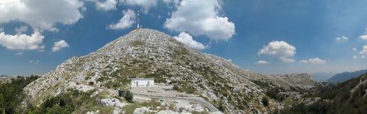 Lo SV. Jure - il più alta montagna nella catena montuosa Biokovo in Croazia Immagine Stock