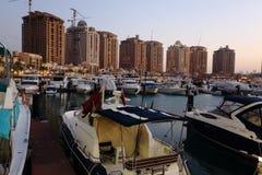 Lo sviluppo della perla nel Qatar Fotografia Stock Libera da Diritti