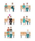 Lo sviluppo delle generazioni della famiglia mette in scena col passare del tempo il processo Immagini Stock