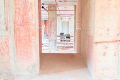 Lo sviluppo interno di piano della costruzione del cantiere su alloggio con lo spazio della copia aggiunge il testo Immagini Stock Libere da Diritti