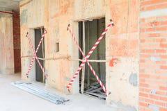 Lo sviluppo interno di piano della costruzione del cantiere su alloggio con lo spazio della copia aggiunge il testo Immagine Stock