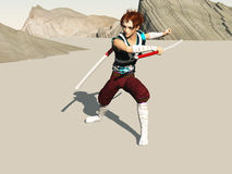 Lo swordsman fotografia stock libera da diritti