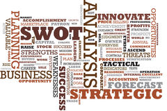 Lo SWOT esprime il collage Immagini Stock Libere da Diritti