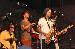 Lo-Trio Cubano am Ferrara-Buskers-Festival Stockfoto