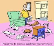 Lo voglio sapere che celebri la vostra diversità Immagini Stock Libere da Diritti
