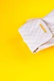 Lo zaino femminile del cuoio bianco Fotografia Stock Libera da Diritti