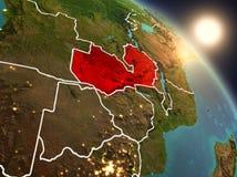 Lo Zambia da spazio durante l'alba Immagini Stock Libere da Diritti