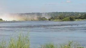Lo Zambia del fiume Zambezi di cascate Victoria Fotografia Stock
