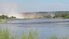 Lo Zambia del fiume Zambezi di cascate Victoria Fotografia Stock Libera da Diritti