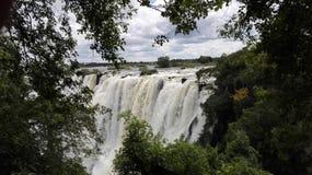Lo Zambia del fiume Zambezi di tunya di Mosi o Fotografia Stock