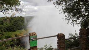 Lo Zambia di Vicfalls il fiume Zambezi Fotografie Stock