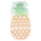Lo zentangle dell'ananas ha stilizzato per i grafici della maglietta, carte ecc Fotografia Stock Libera da Diritti