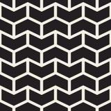 Lo zigzag in bianco e nero senza cuciture di Chevron di vettore allinea il modello geometrico Fotografia Stock Libera da Diritti