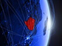 Lo Zimbabwe su terra digitale blu blu fotografia stock