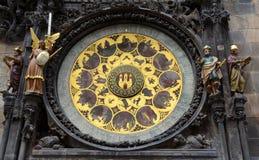 Lo zodiaco 12 dell'orologio astronomico Fotografia Stock Libera da Diritti
