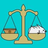 Lo zodiaco di Bunny Libra firma dentro lo stile del fumetto illustrazione di stock