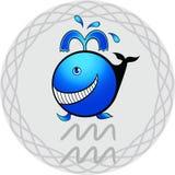 Lo zodiaco firma il aquarius illustrazione vettoriale