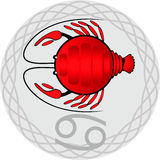 Lo zodiaco firma il cancro illustrazione vettoriale
