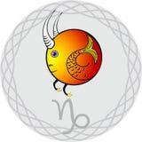Lo zodiaco firma il capricorn illustrazione vettoriale