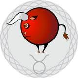 Lo zodiaco firma il taurus royalty illustrazione gratis