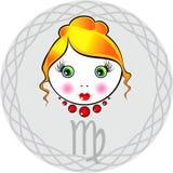 Lo zodiaco firma il virgo royalty illustrazione gratis