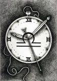 Lo zodiaco firma la Bilancia Disegnato a mano con la spazzola dell'inchiostro Illustrazione di vettore Immagine Stock Libera da Diritti