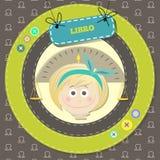 Lo zodiaco firma la raccolta. Oroscopo sveglio - BILANCIA. Fotografia Stock Libera da Diritti
