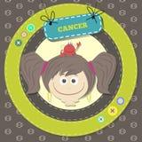 Lo zodiaco firma la raccolta. Oroscopo sveglio - CANCRO. Fotografia Stock