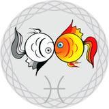 Lo zodiaco firma pisces illustrazione di stock