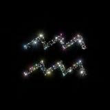 Lo zodiaco stars il Aquarius Fotografie Stock Libere da Diritti