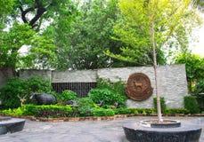 Lo zoo o Khoa Din Park di Dusit è uno zoo a Bangkok, Tailandia fotografia stock libera da diritti