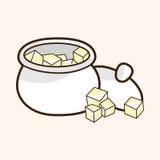 Lo zucchero cuba il vettore degli elementi di tema, ENV royalty illustrazione gratis