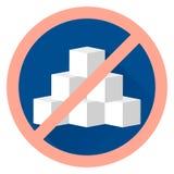 Lo zucchero piano del segno dell'icona di vettore libera Fotografie Stock Libere da Diritti