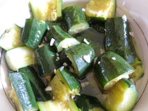 lo zucchini freschi del taglio Immagini Stock