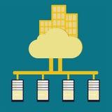 Load balance concept. With public cloud technology vintage color stock illustration