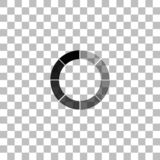 Load bar icon flat. Load bar. Black flat icon on a transparent background. Pictogram for your project royalty free illustration