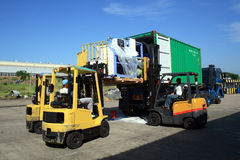Load container truck Royalty Free Stock Images