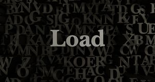 Load - 3D rendered metallic typeset headline illustration. Can be used for an online banner ad or a print postcard royalty free illustration
