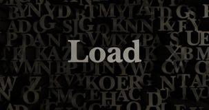 Load - 3D rendered metallic typeset headline illustration Stock Image