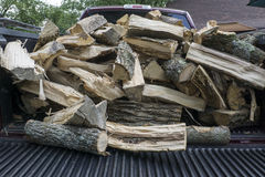 Load Of Freshly Split Firewood Stock Photo