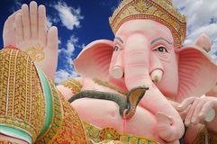 Load ganesha statue with blue sky Royalty Free Stock Image