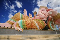 Load ganesha statue with blue sky Stock Photography